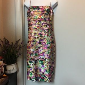 JS Collection  Cocktail Tiered Sheath Dress